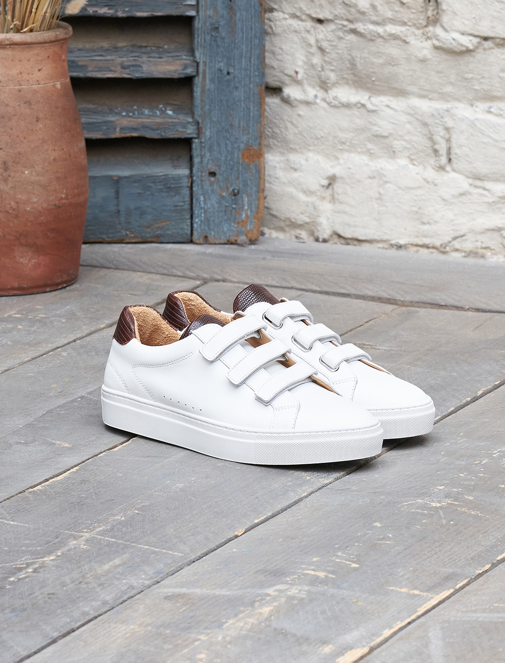 Sam Sneakers - White et Mahogany