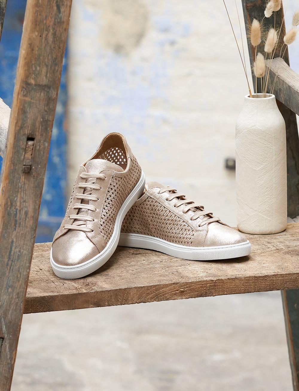 Sneakers Olivia - Doré Perforé