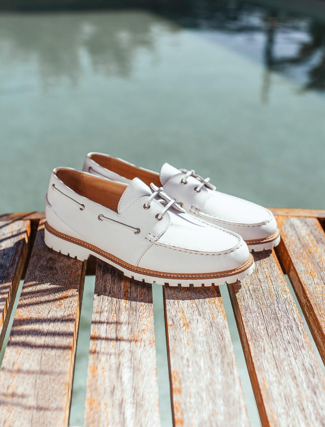 White Bateau shoes