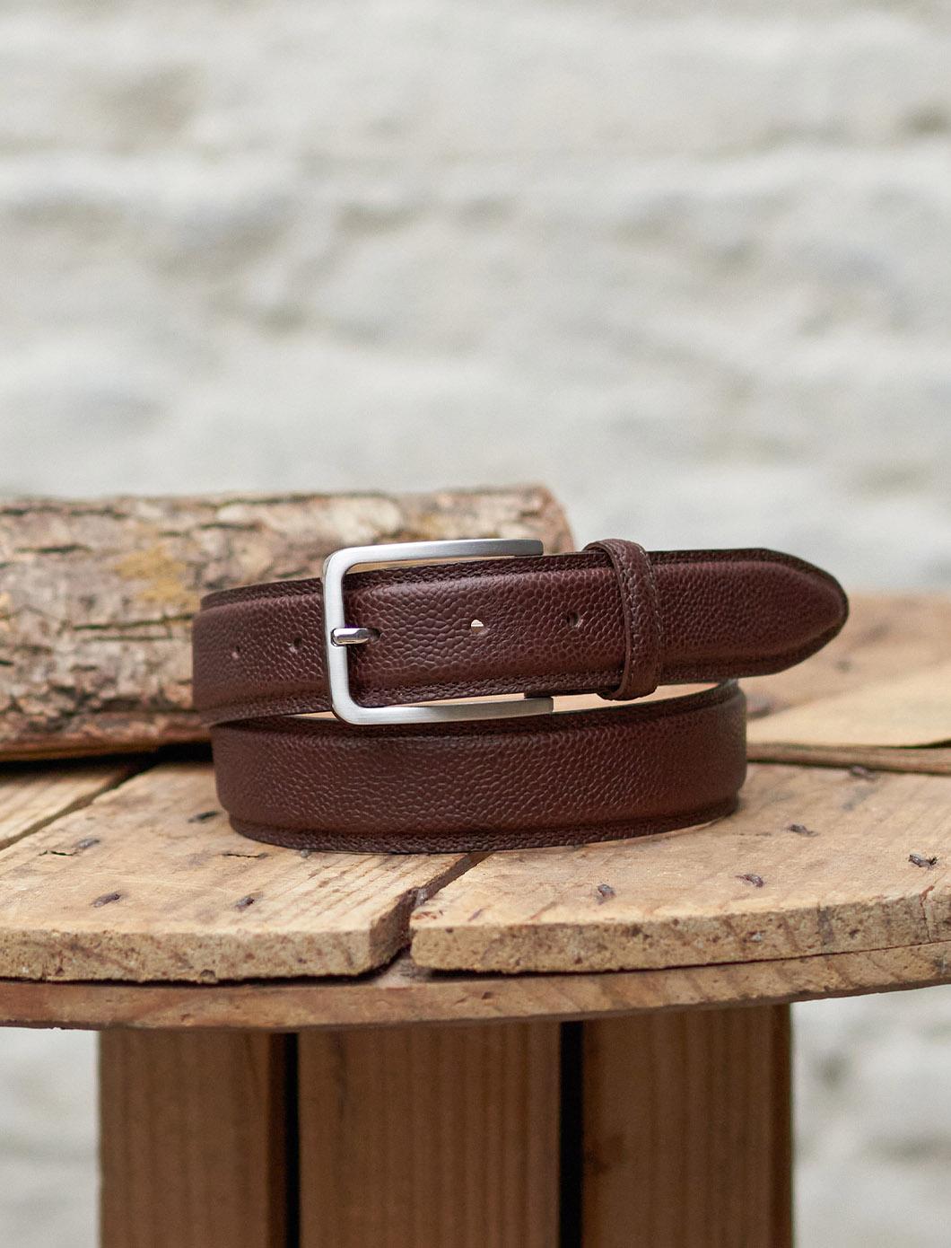 Classic Belt - grained Chocolate