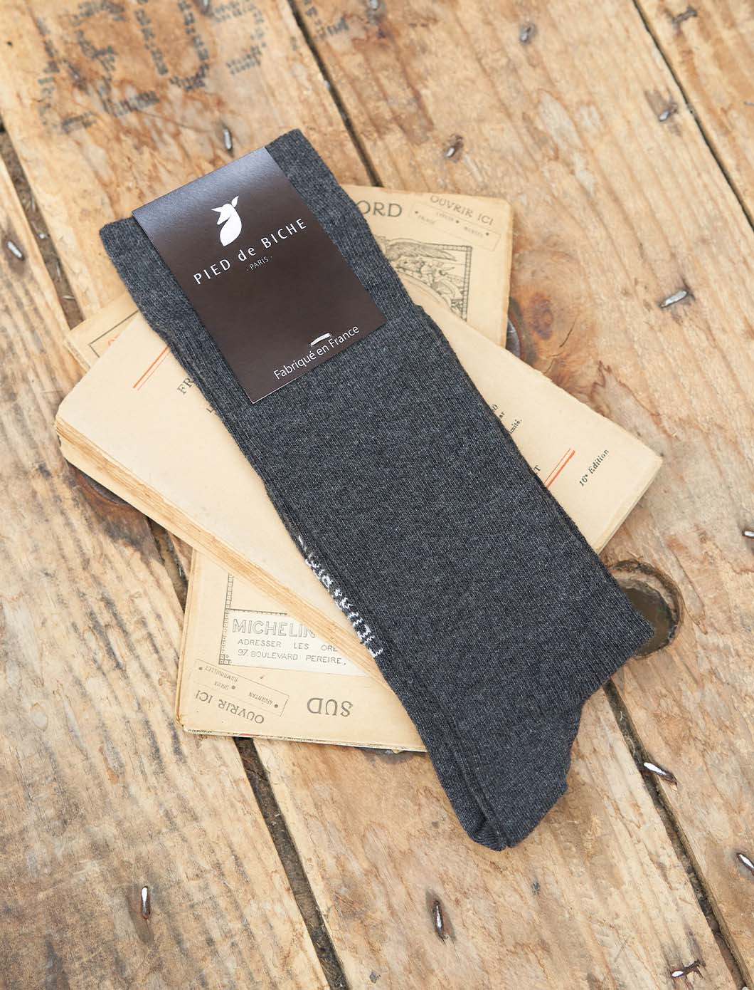 Ribbed socks - Mottled Anthracite