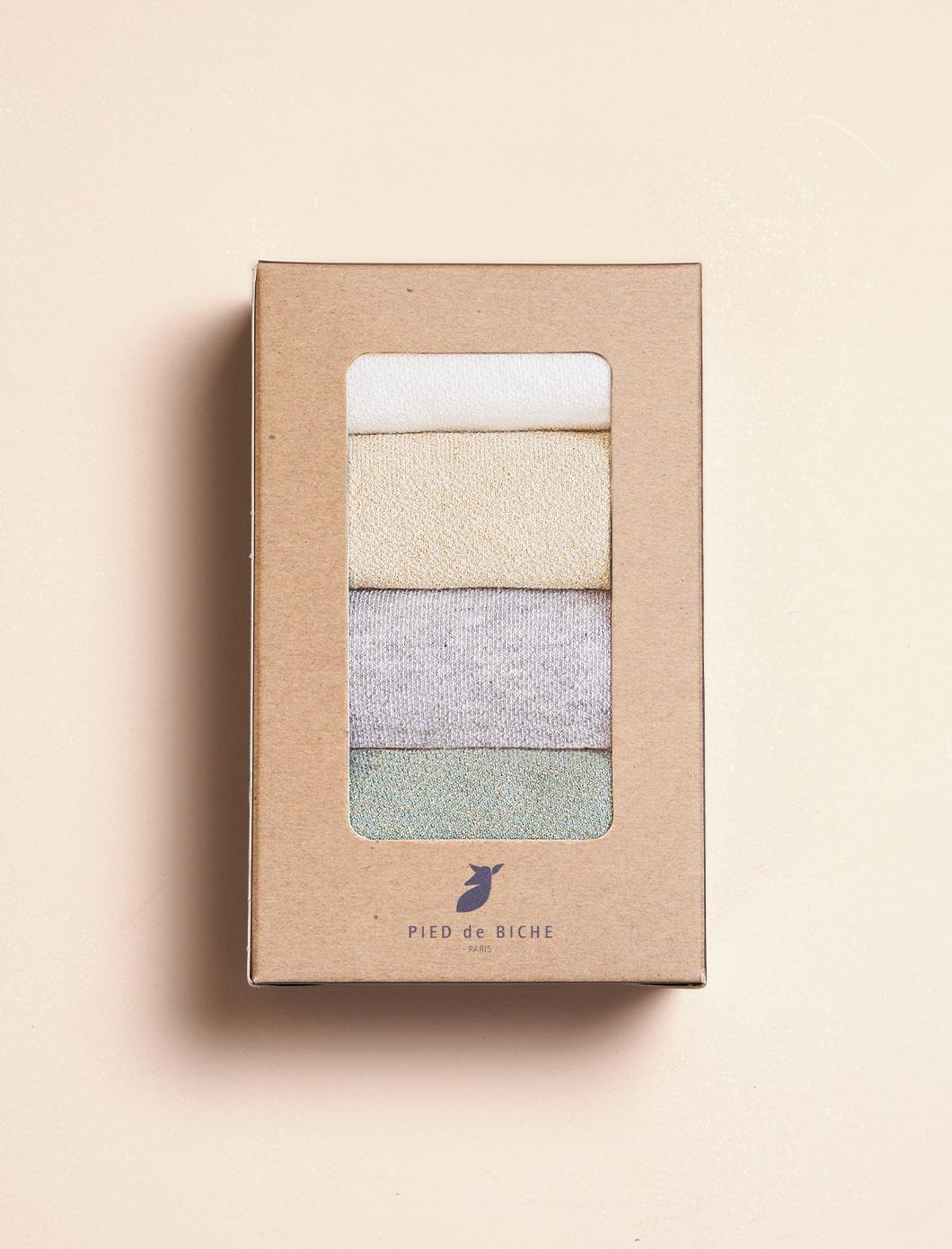 Openwork Scalloped Socks - Quartet for women