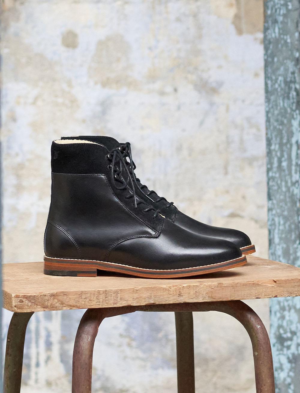Combat boots Gabrielle stuffed - Black