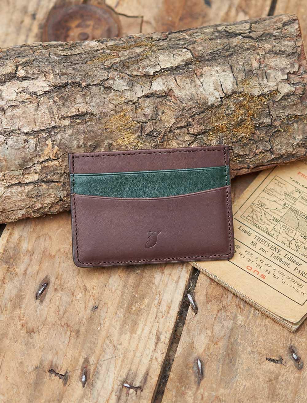 Card holder Ebony / Fir green
