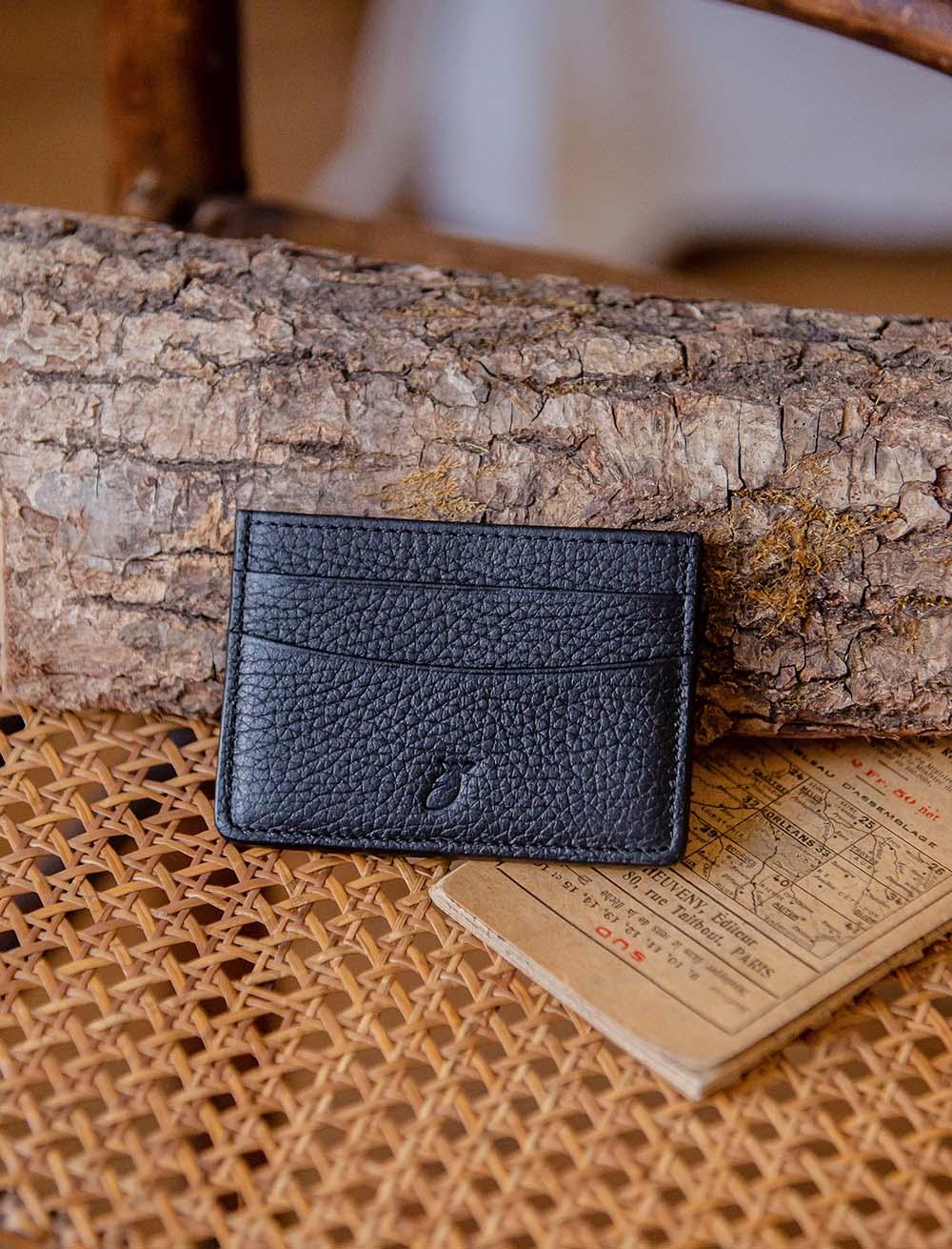 Card holder - Grained Black