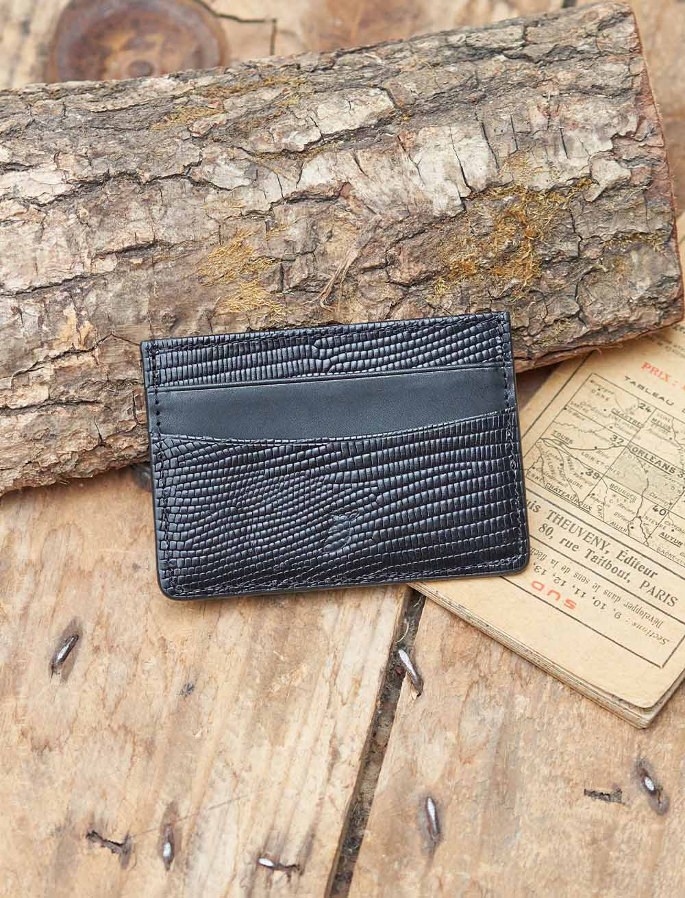 Card holder - Black Lizard