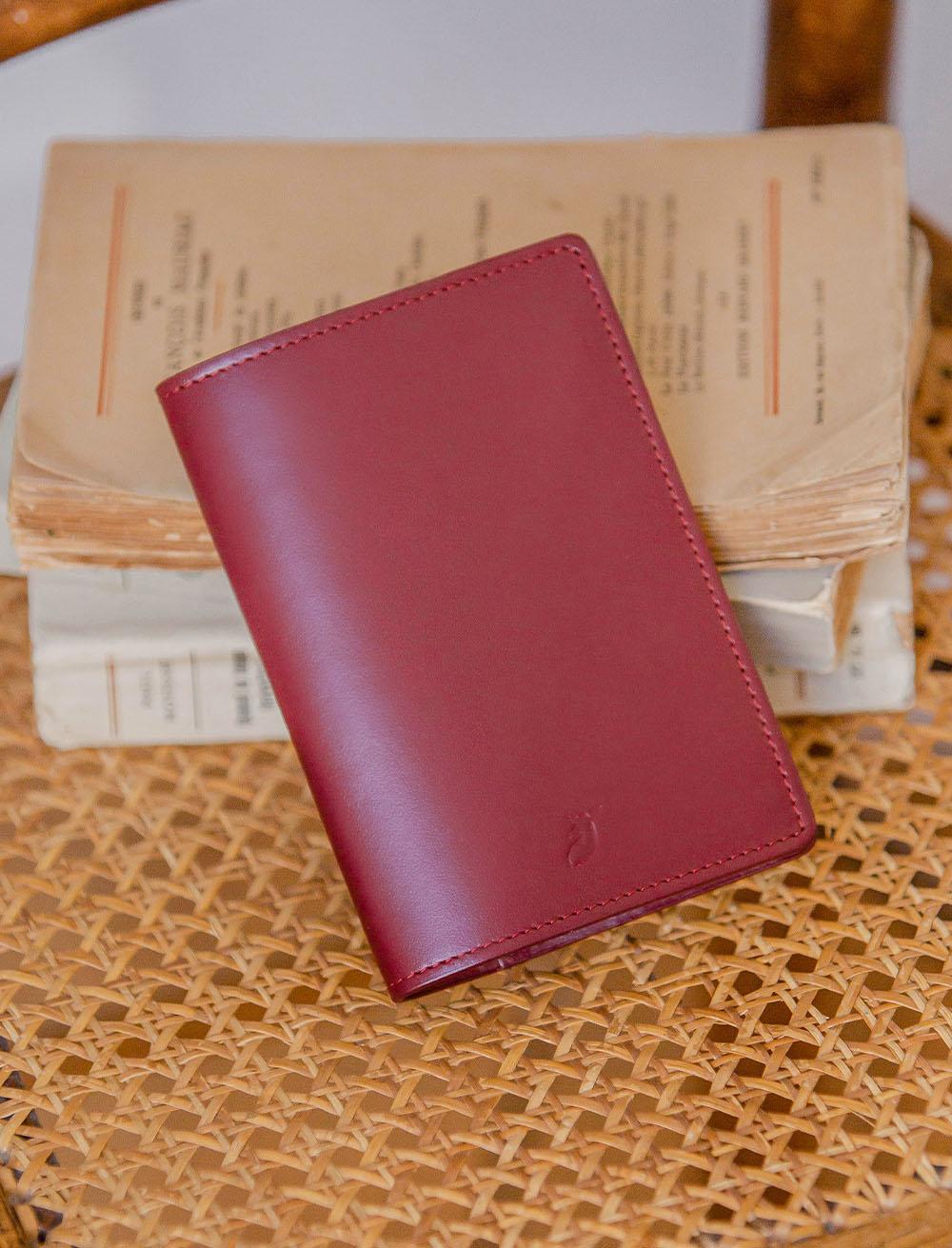 Passport holder - Burgundy
