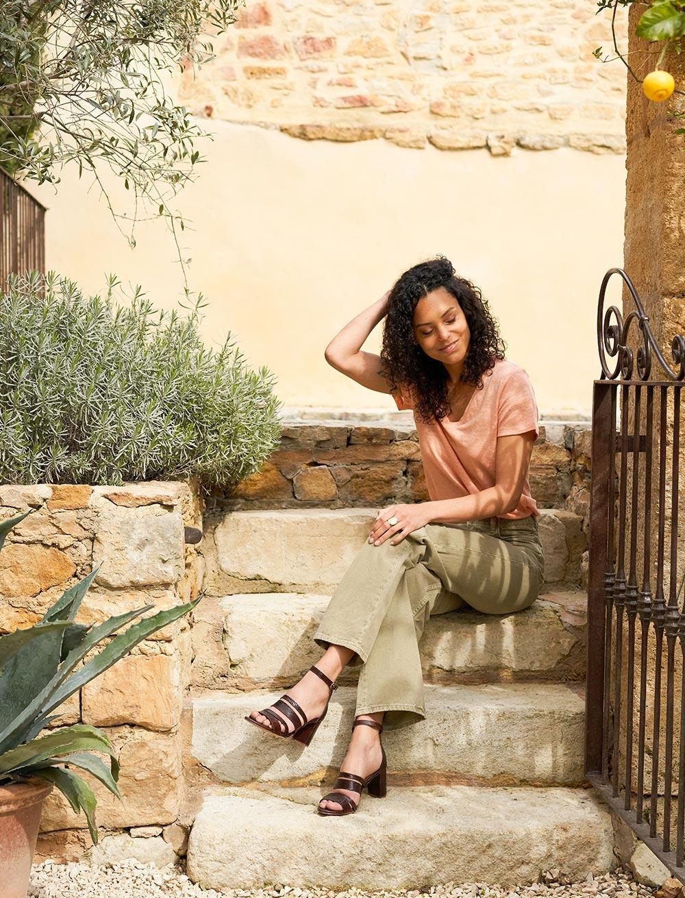 Alizée Sandals - Mahogany