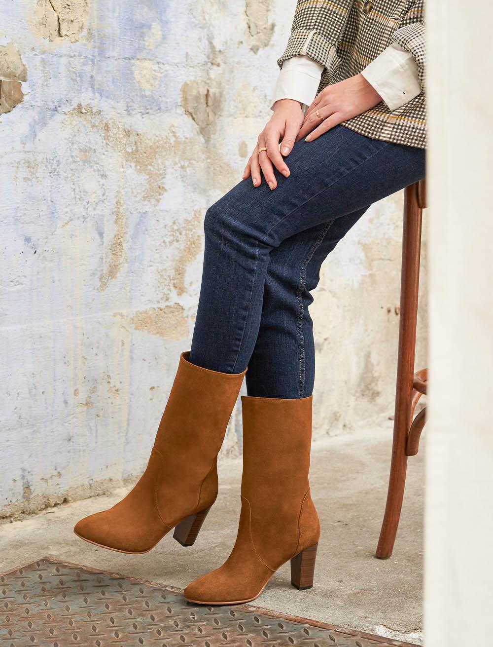 Charlie Mid-high boots - Hazelnut
