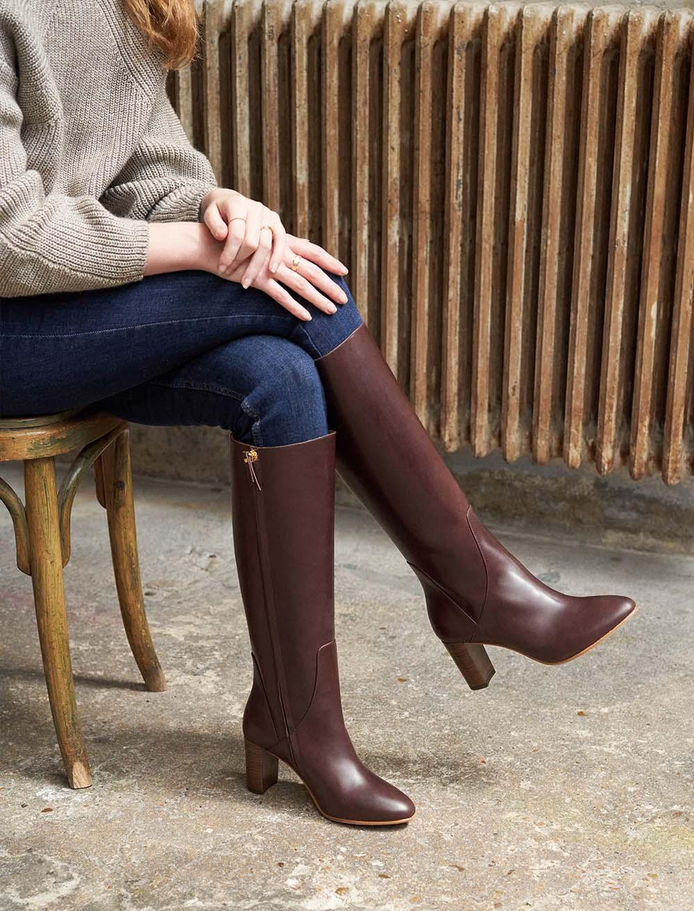 High heel boots Helena - Ebony