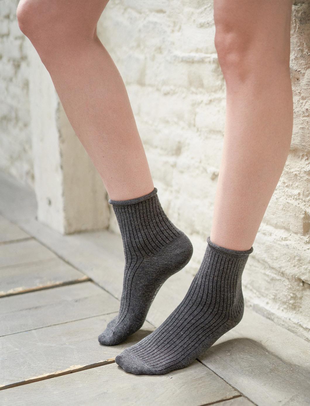 Ribbed socks - Anthracite