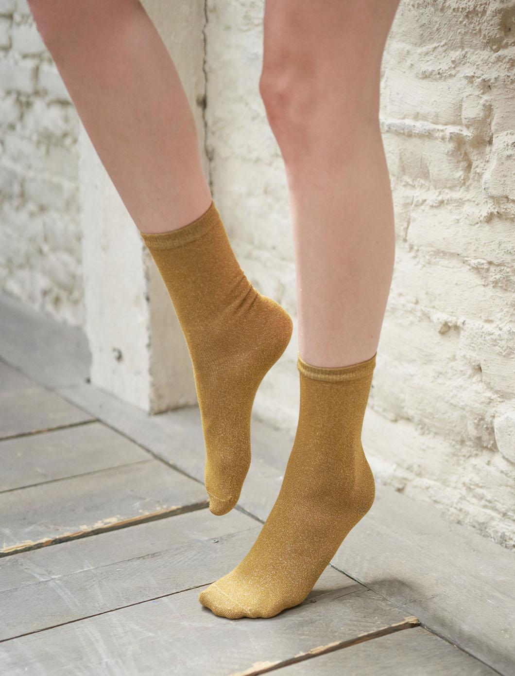 Socks - Bronze glitter