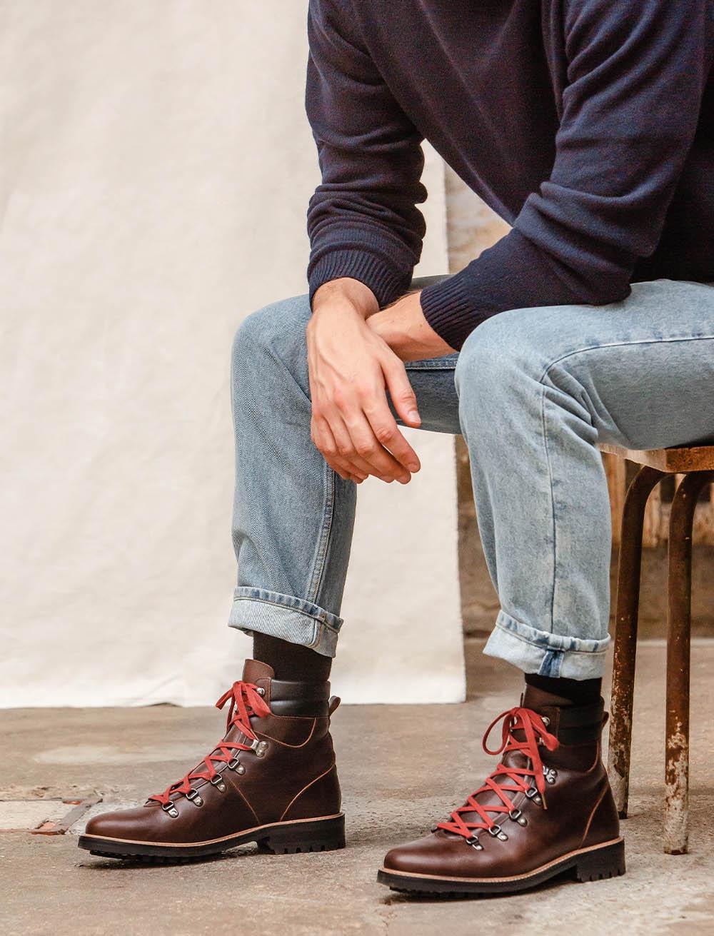 Alpine boots - Burgundy