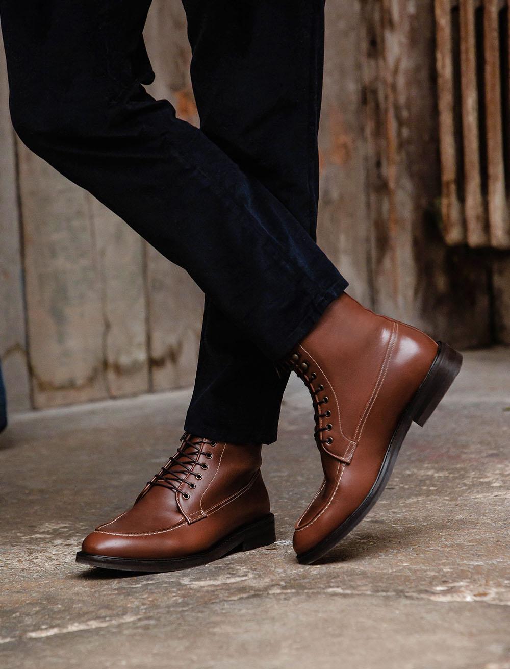 Classic Combat boots - Havana