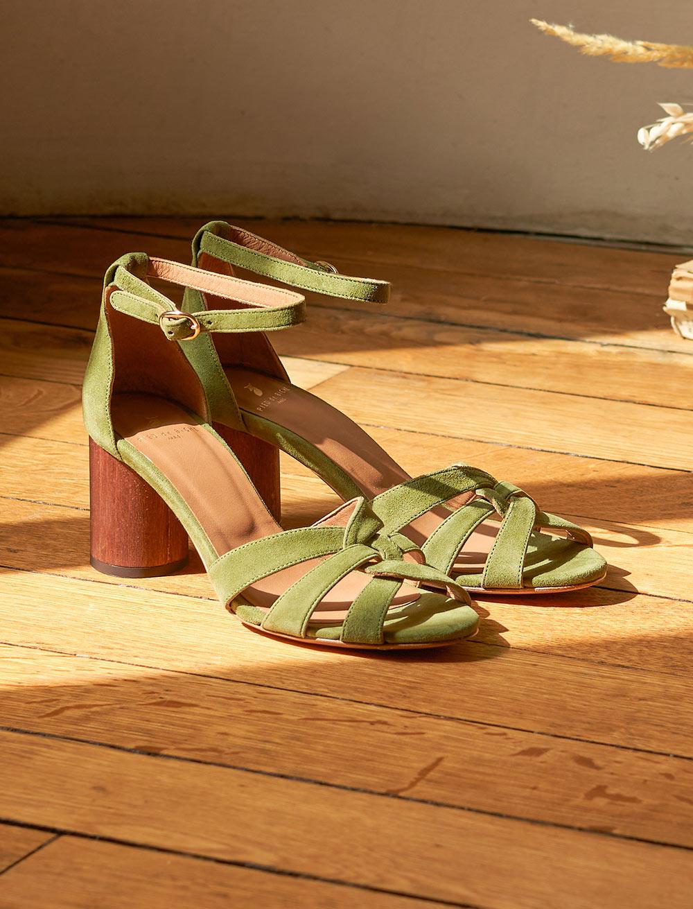 Laurène Sandals - Khaki