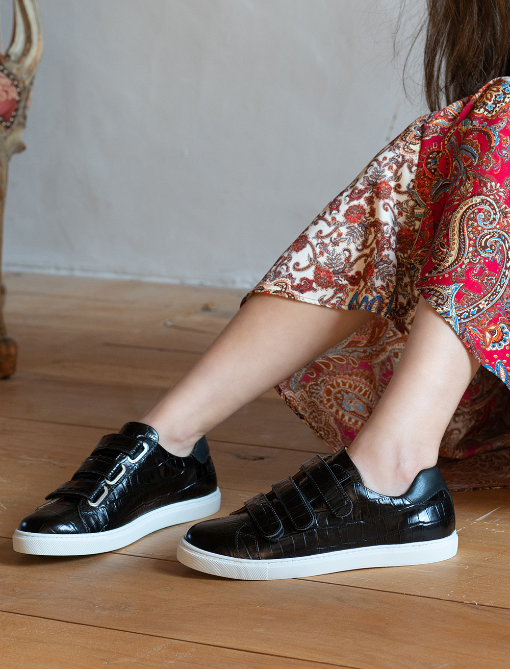 Sneakers Alice - Croco black