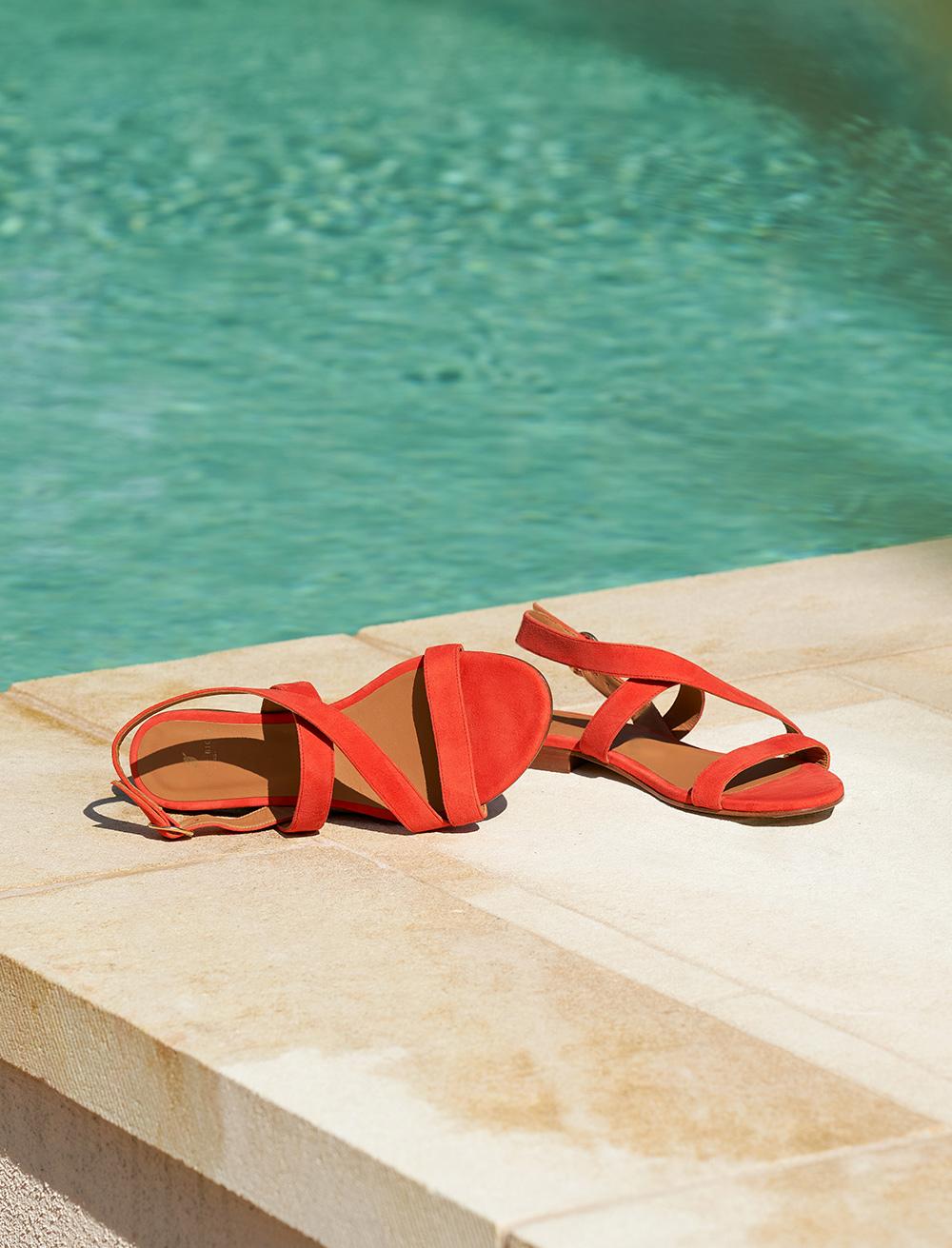 Ambre Sandals - Carmine