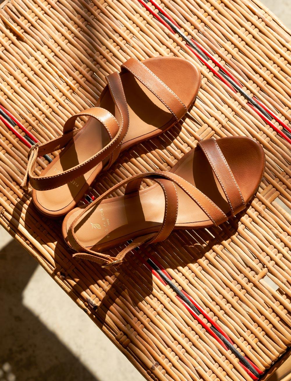 Ambre Sandals - Cognac
