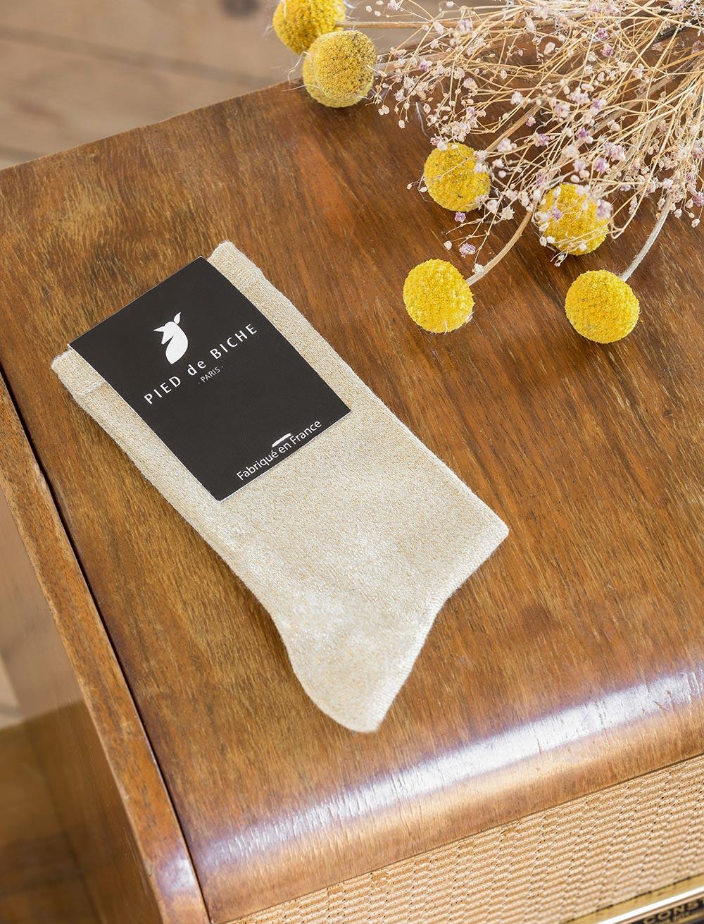 Socks - Gold glitter