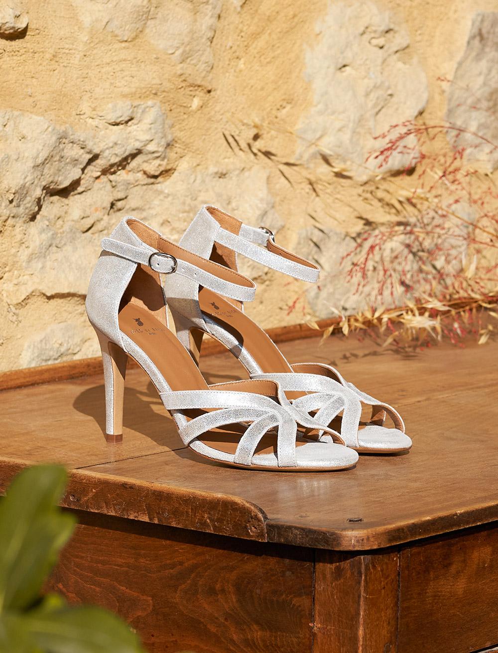 Hortense heeled sandals - Silver