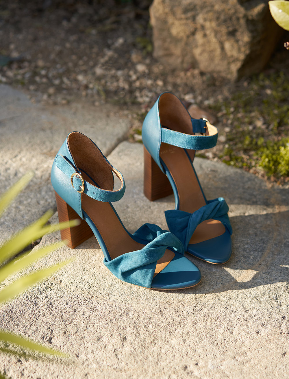 Pia heeled sandals - Duck color