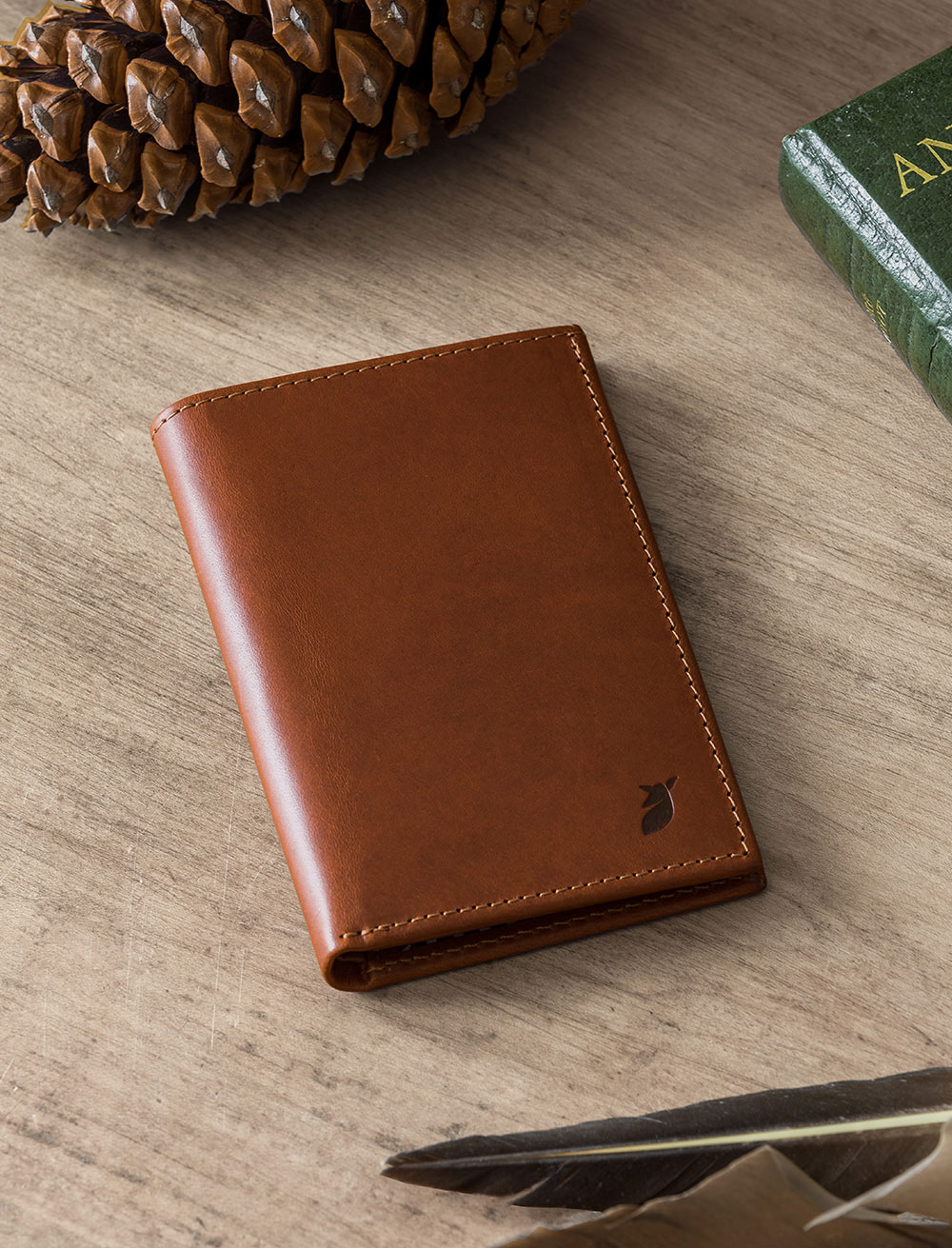 Passport holder - Cognac