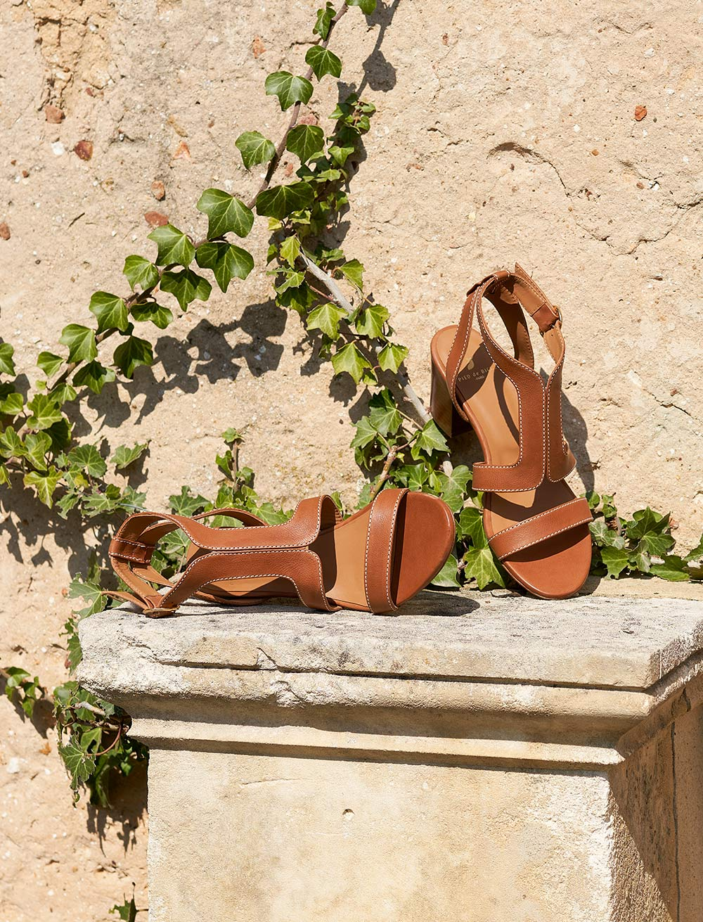 Roxane Sandals - Cognac