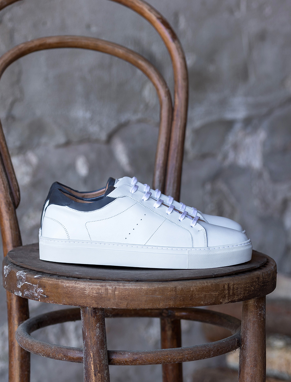 Sneakers Elio - White and blue