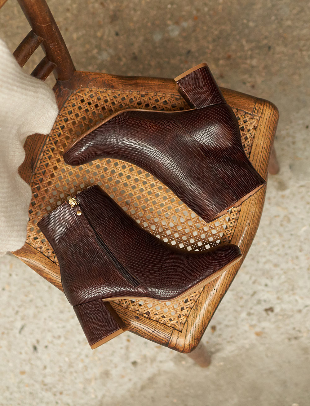 Lucie Heeled Ankles Boots - Mahogany Lizard