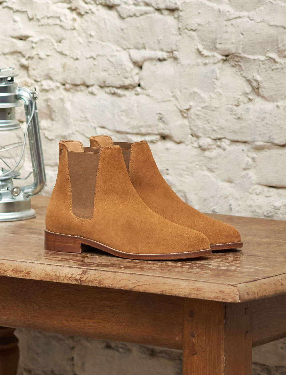 Anne Flat Chelsea boots - Taupe