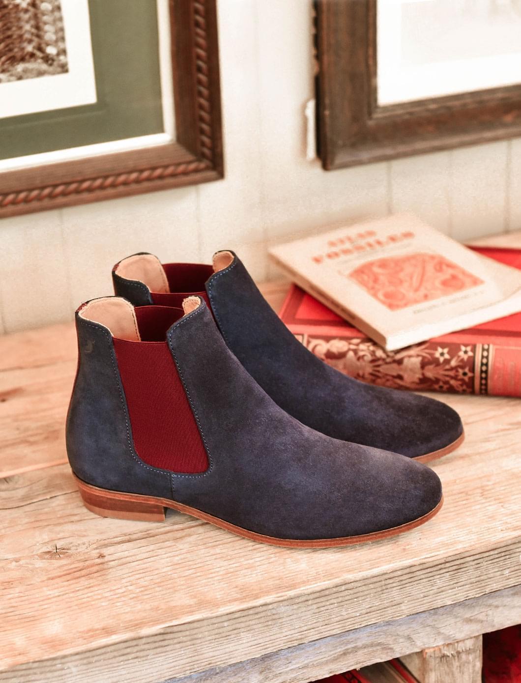 Chelsea boots - Bleu and eggplant