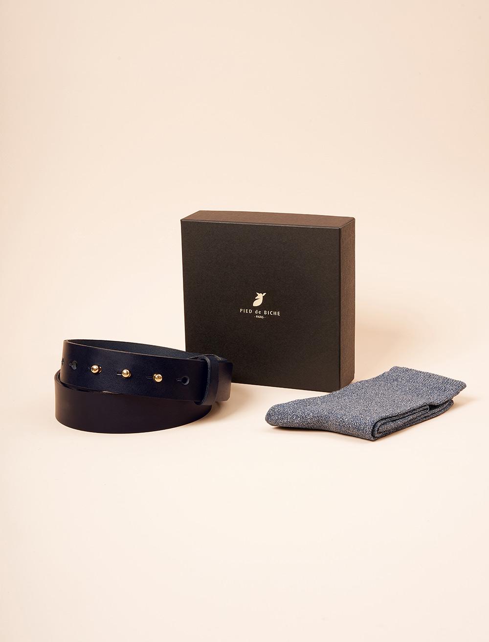 Christmas gift box - Collar button belt and glitter socket