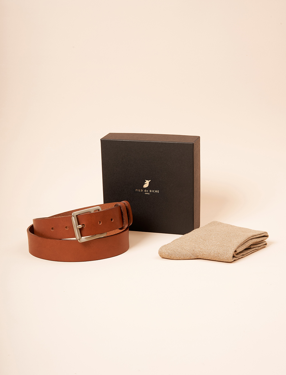 Christmas gift box - Raw belt and socks