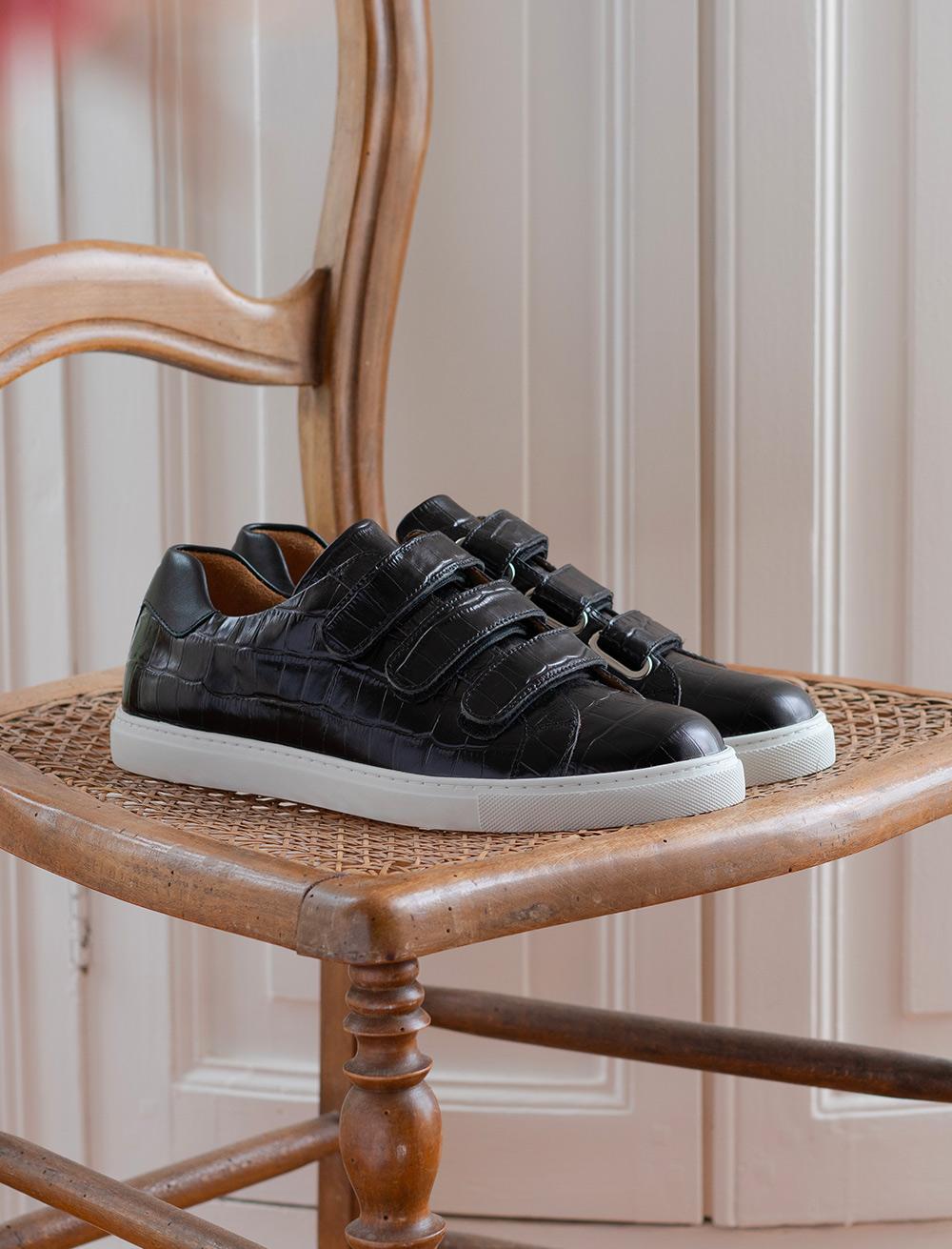 Sneakers Alice - Croco black