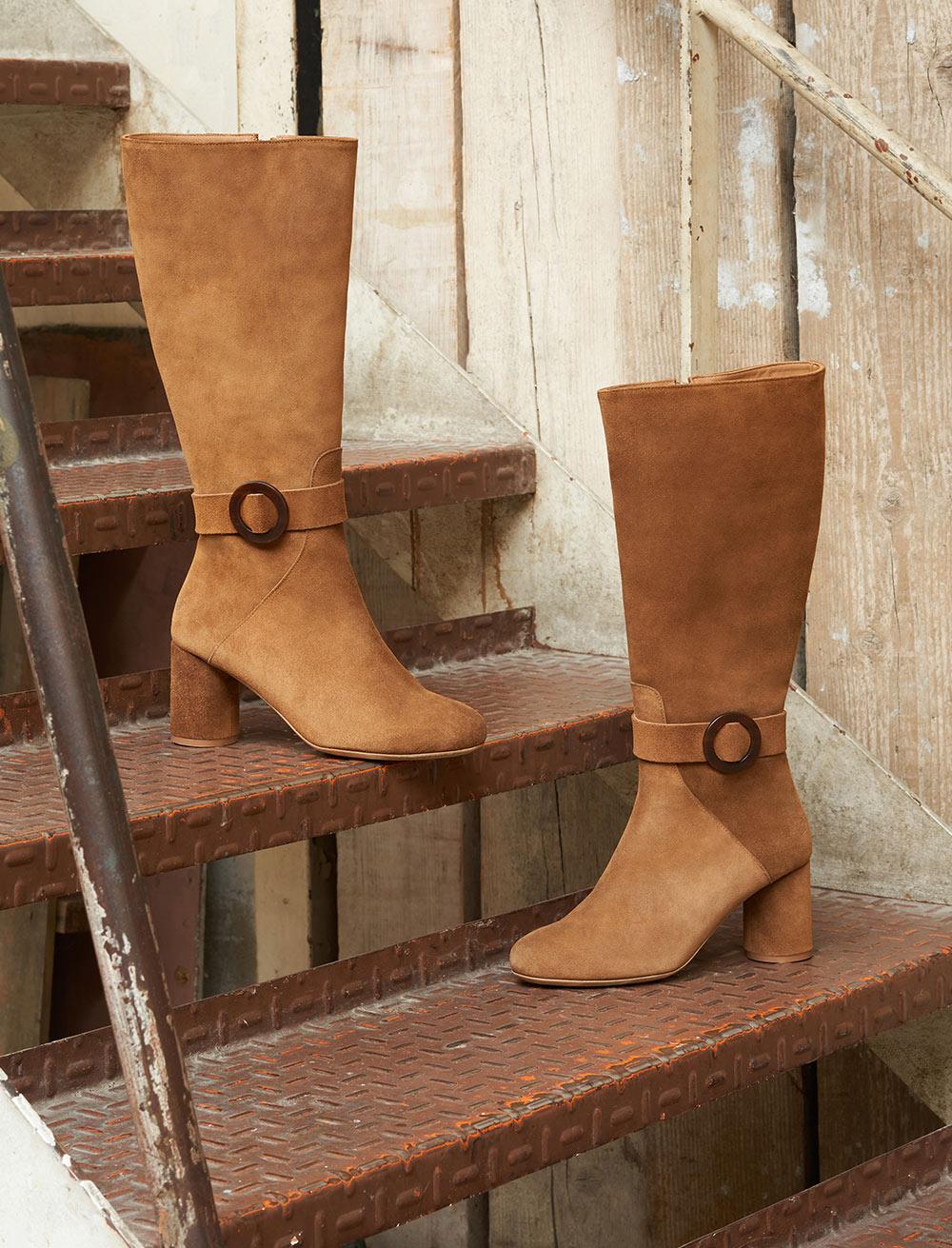 Rachel mid-high boots - Nut