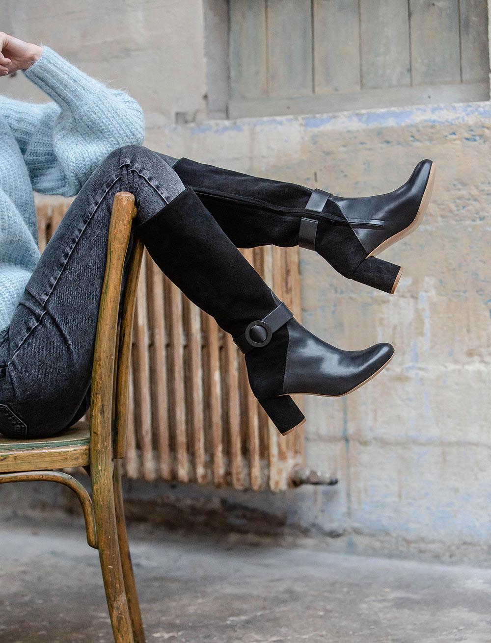 Rachel mid-high boots - Black