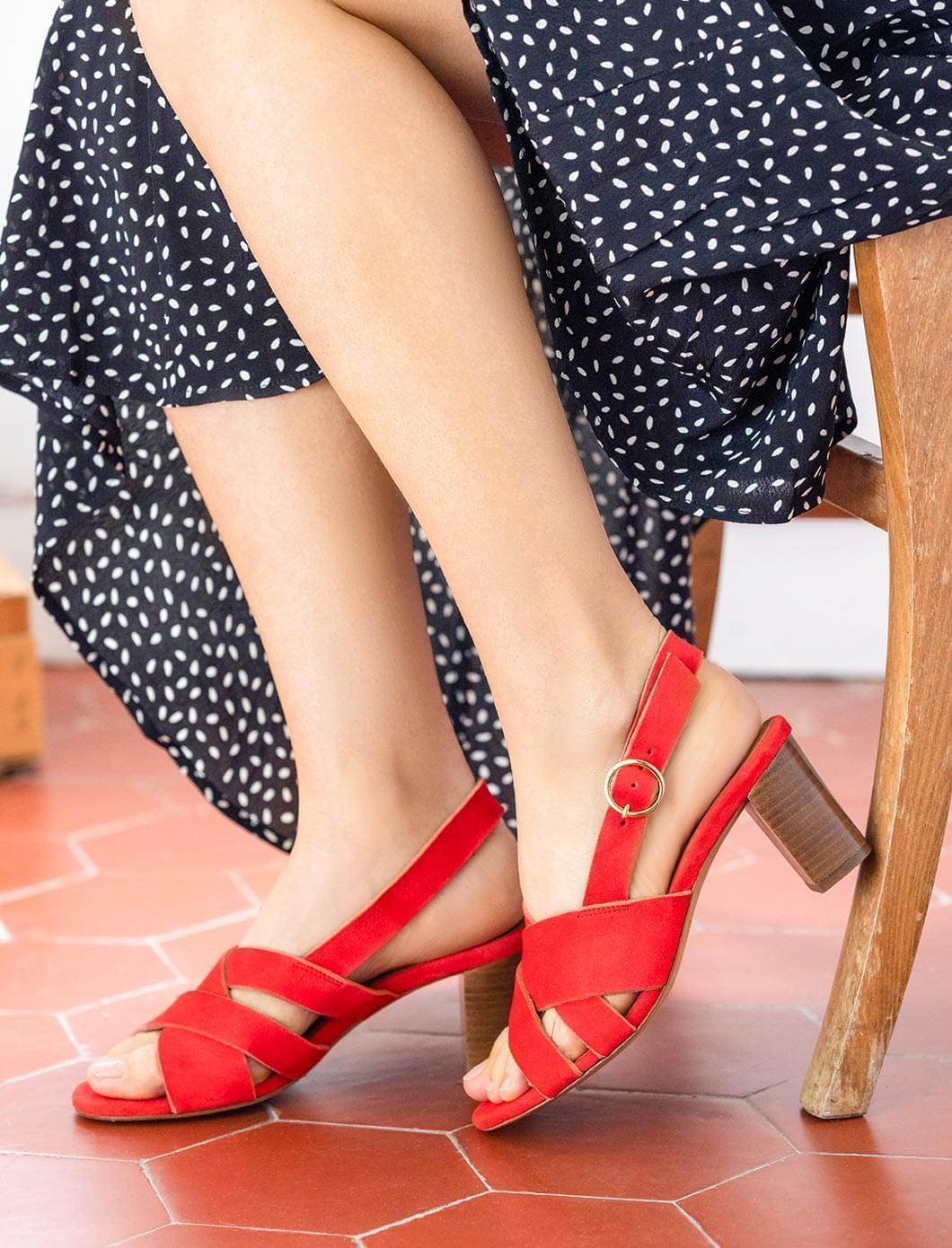 Giulia heeled sandals - Terracota