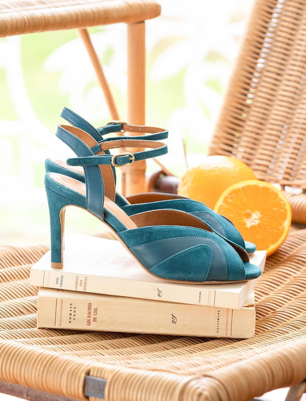 Claudia heeled sandals - Duck color