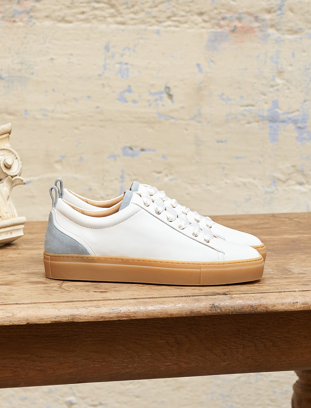 Sneakers Lola - White and Honey Pearl