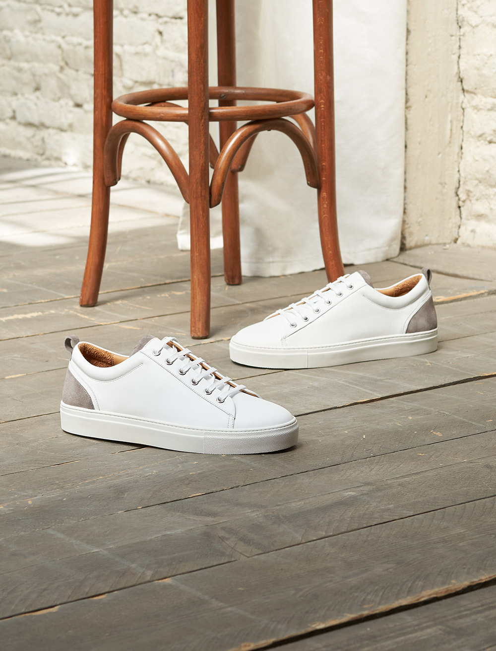 Sneakers Luka - White and grey