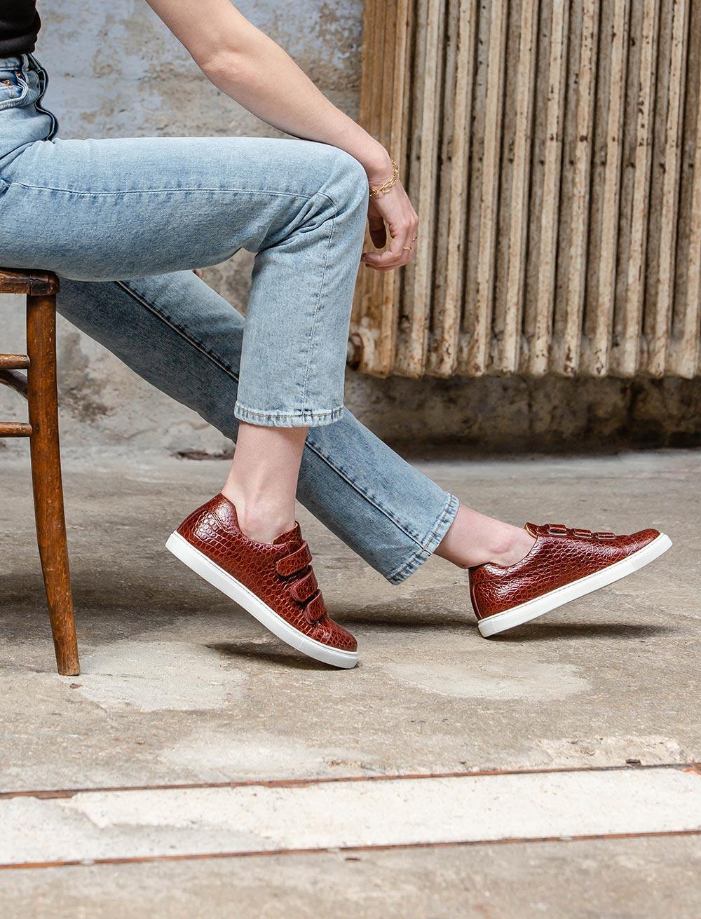 Alice Sneakers - Scale garnet